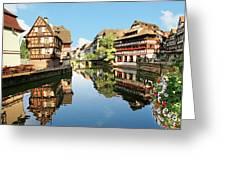 Timbered Buildings, La Petite France Greeting Card
