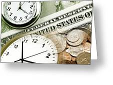 Time Is Money Concept Greeting Card
