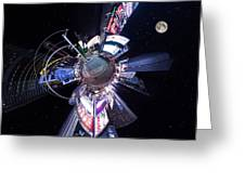 Times Square Planet Greeting Card