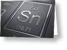 Tin Chemical Element Greeting Card