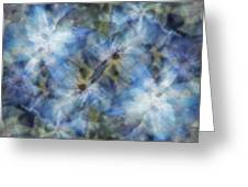 Tissue Paper Blues Greeting Card