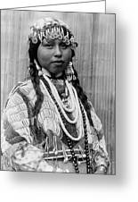 Tlakluit Indian Woman Circa 1910 Greeting Card by Aged Pixel