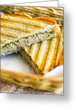 Toasted Tuna Sandwiches For American Breakfast Greeting Card