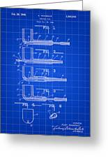 Tobacco Pipe Patent 1944 - Blue Greeting Card