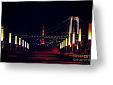 Tokyo Tower At Night Greeting Card