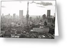 Tokyo Tower Square Greeting Card