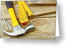 Tools Greeting Card by Les Cunliffe