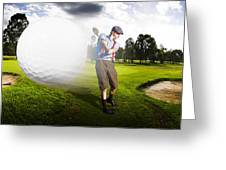 Top Flight Golf Greeting Card