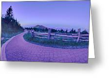 Top Of Mount Mitchell After Sunset Greeting Card