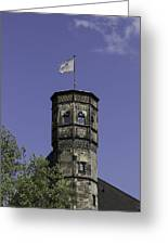 Tower And Flag Cologne Germany Greeting Card