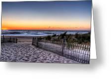 Tower Beach Sunrise Greeting Card by David Dufresne