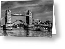 Tower Bridge Vintage Greeting Card