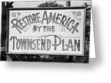 Townsend Plan, 1939 Greeting Card