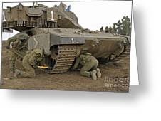 Track Replacement On A Israel Defense Greeting Card