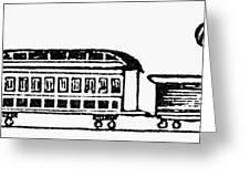 Train, 19th Century Greeting Card