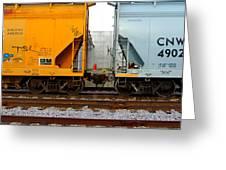 Train Cars 2 Greeting Card