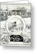 Travel Poster, C1882 Greeting Card