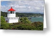 Trinidad Head Light House On The Coast Greeting Card