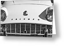 Triumph Tr3 Grille Emblem Greeting Card