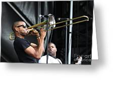 Musician Trombone Shorty Greeting Card