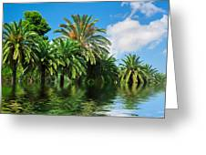 Tropical Exotic Jungle And Water Greeting Card