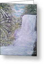 Tropical Waterfall Greeting Card