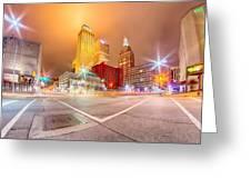 Tulsa City Skyline Around Downtown Streets Greeting Card