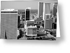 Tulsa Oklahoma Skyline Aerial Greeting Card