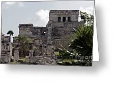 Tulum Ruins Mexico Greeting Card