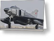 Turkish Air Force F-4 Phantom Landing Greeting Card