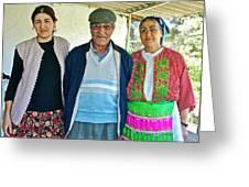 Turkish Family In Demircidere Koyu In Kozak-turkey  Greeting Card