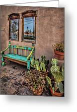Turquoise Bench Greeting Card