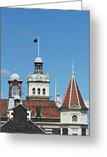Turrets, Spires & Clock Tower, Historic Greeting Card