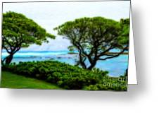 Turtle Bay View Greeting Card
