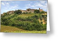 Tuscany - Castelnuovo Dell'abate Greeting Card