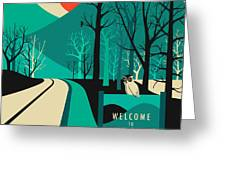 Twin Peaks Travel Poster Greeting Card