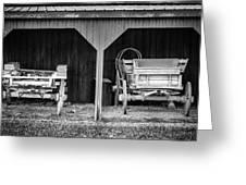 Two Carts Greeting Card