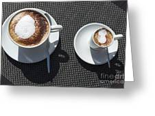 Two Cups Of Coffee Greeting Card