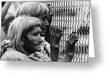 Two Elderly Apache Women Labor Day Rodeo White River Arizona 1969 Greeting Card
