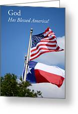 God Has Blessed America Greeting Card