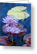 Two Purple Lilies Greeting Card