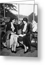 Two Women Talking Greeting Card
