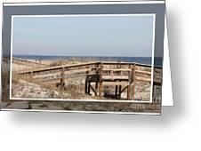 Tybee Island Boardwalks Greeting Card