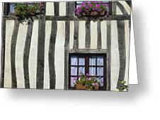 Typical House  Half-timbered In Normandy. France. Europe Greeting Card