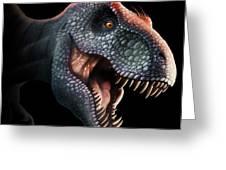Tyrannosaurus Rex Head Greeting Card