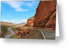 Unaweep Tabeguache Scenic Byway Greeting Card by Kate Avery