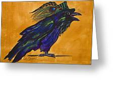 Uncommon Raven Love 3 Greeting Card