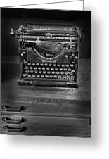 Underwood Typewriter Greeting Card