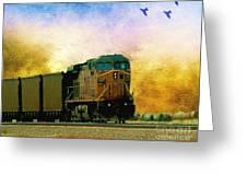 Union Pacific Coal Train Greeting Card