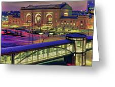 Union Station Greeting Card by Don Wolf
